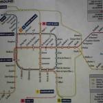 ベルギー ブリュッセルの地下鉄路線図