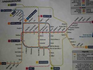 ベルギー ブリュッセル 地下鉄路線図
